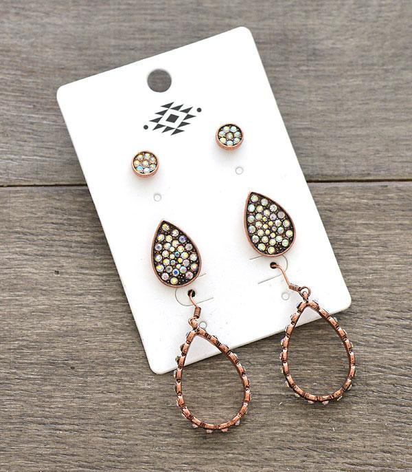 New Arrival :: Wholesale 3PC Set Western Earrings