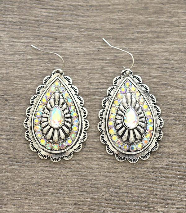 New Arrival :: Wholesale Teardrop Concho Western Earrings