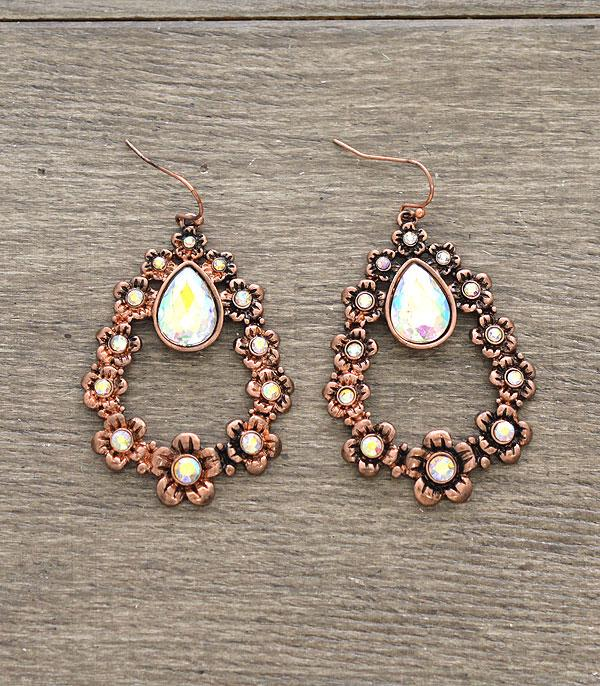 New Arrival :: Wholesale Teardrop Stone Earrings
