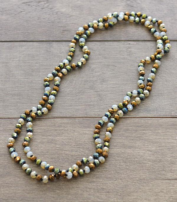 "New Arrival :: Wholesale 60"" Glass Beads Long Necklace"