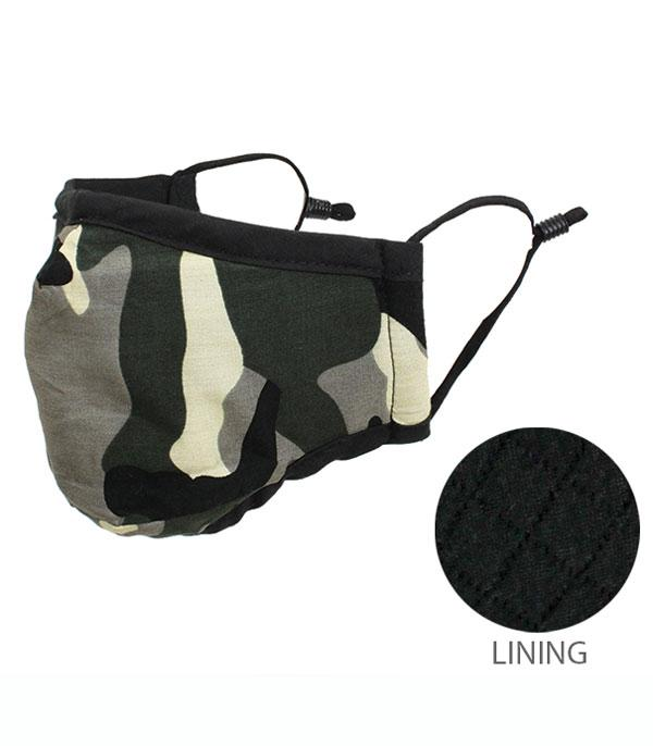 New Arrival :: Wholesale Camo Reusable Viscose Face Mask