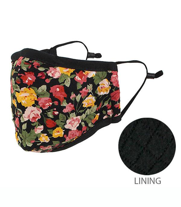 New Arrival :: Wholesale Floral Print Reusable Face Mask