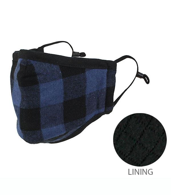 New Arrival :: Wholesale Buffalo Plaid Reusable Face Mask