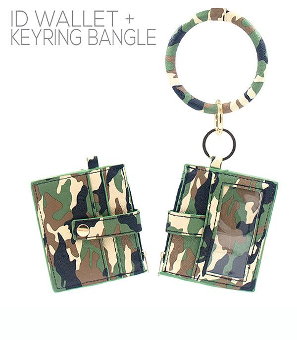 New Arrival :: Wholesale Camo Print ID Wallet Bangle Keychain