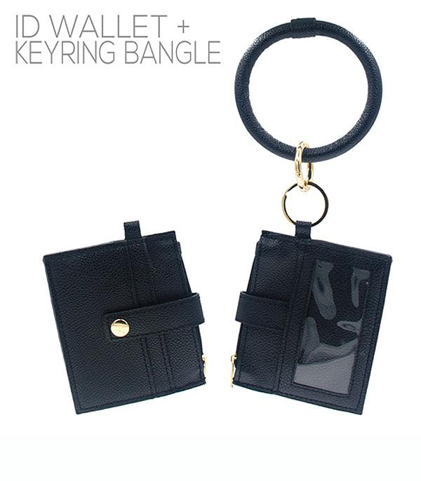 New Arrival :: Wholesale Black ID Wallet Bangle Keychain