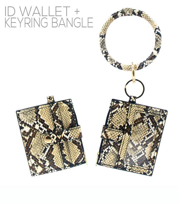 New Arrival :: Wholesale Animal Print ID Wallet Bangle Keychain