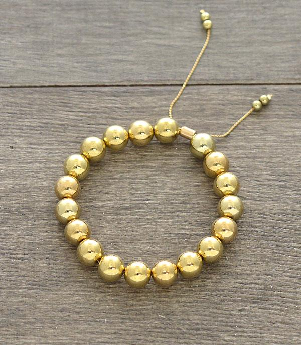 New Arrival :: Wholesale Gold Ball Adjustable Bracelet