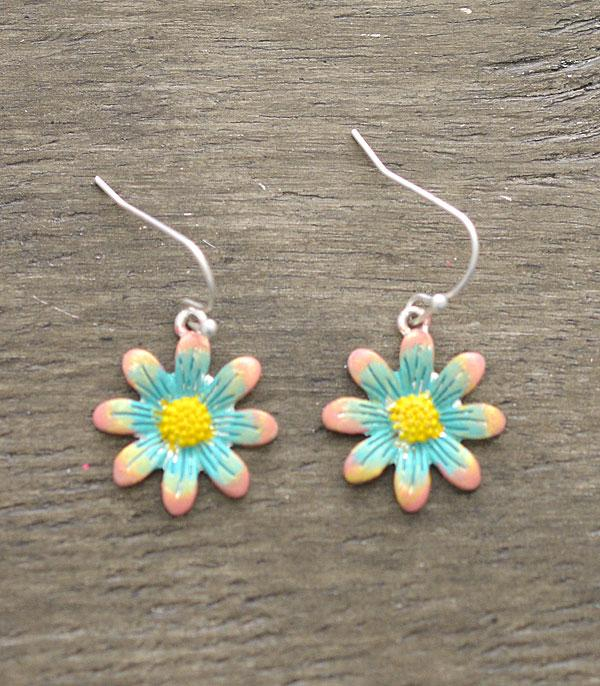 New Arrival :: Wholesale Flower Dangle Earrings