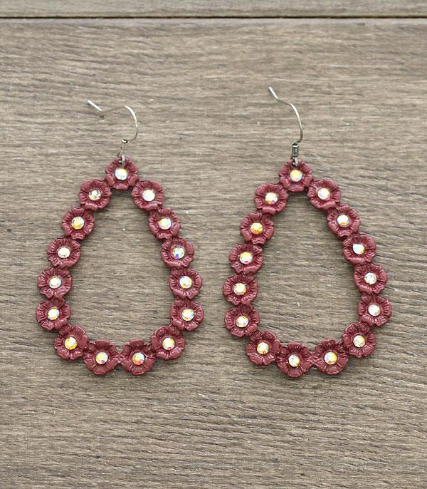 New Arrival :: Wholesale Teardrop Flower Metal Earrings