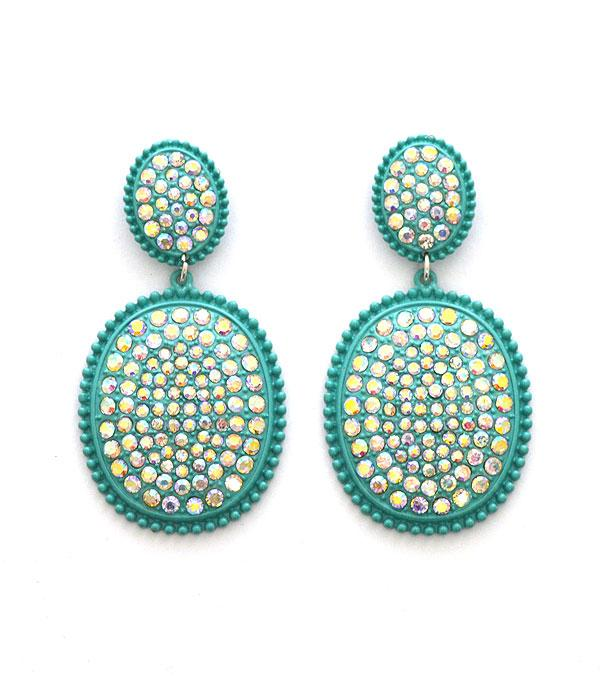 New Arrival :: Wholesale Bling Stone Drop Earrings