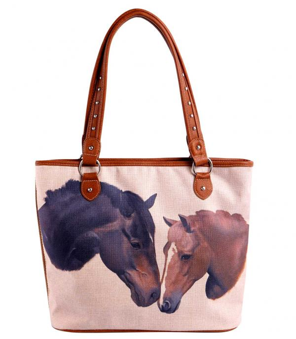 New Arrival :: Wholesale Horse Print Canvas Tote Bag