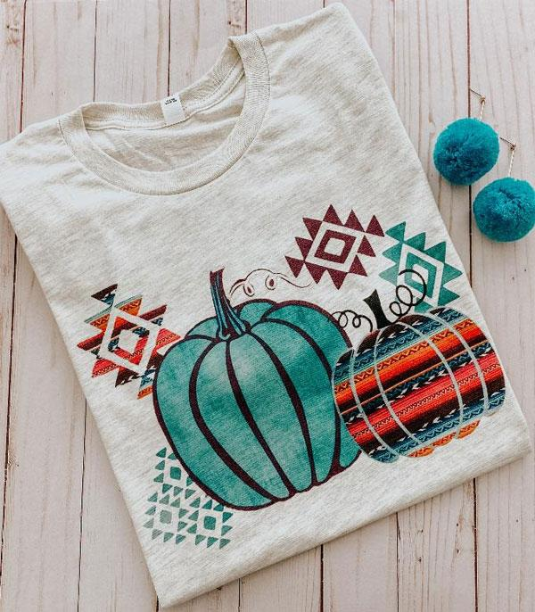 New Arrival :: Wholesale Aztec Pumpkins Vintage Short Sleeve Tee