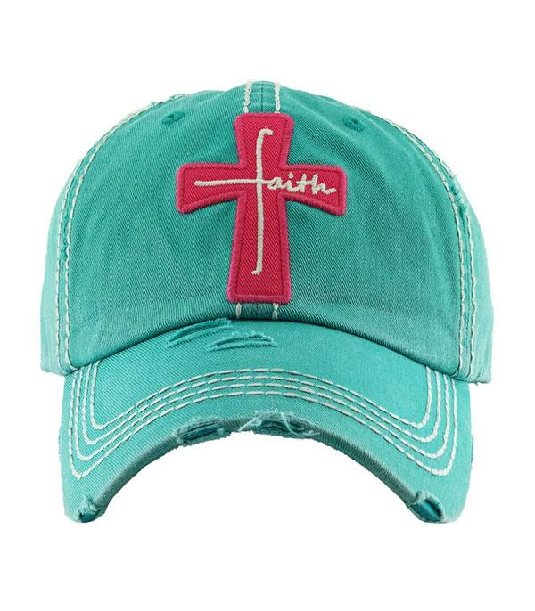 New Arrival :: Wholesale Faith Cross Vintage Ballcap