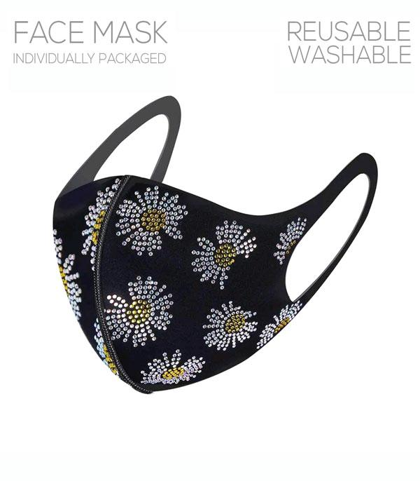 New Arrival :: Wholesale Flower Bling Reusable Face Mask
