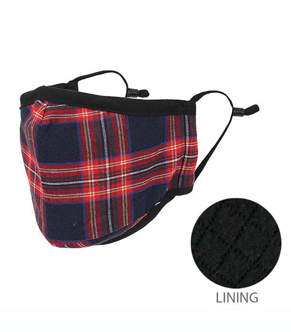 New Arrival :: Wholesale Plaid Reusable Double Layer Face Mask