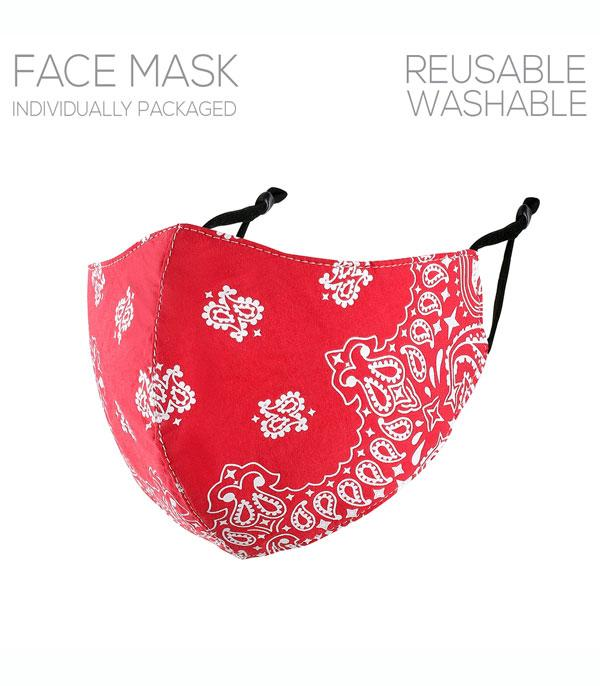 New Arrival :: Wholesale Paisley Print Reusable Face Mask