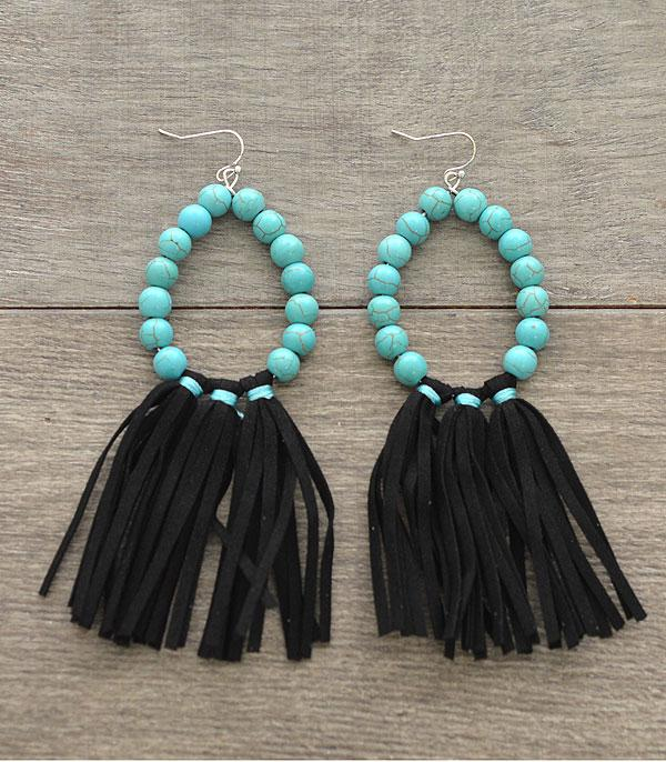 New Arrival :: Wholesale Turquoise Tassel Earrings