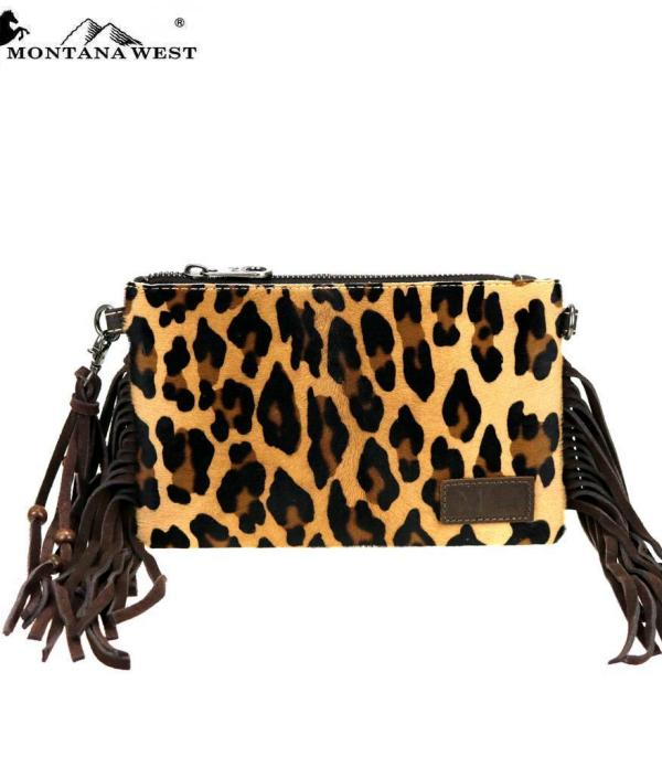 New Arrival :: Wholesale Cowhide Leopard Fringe Crossbody Bag