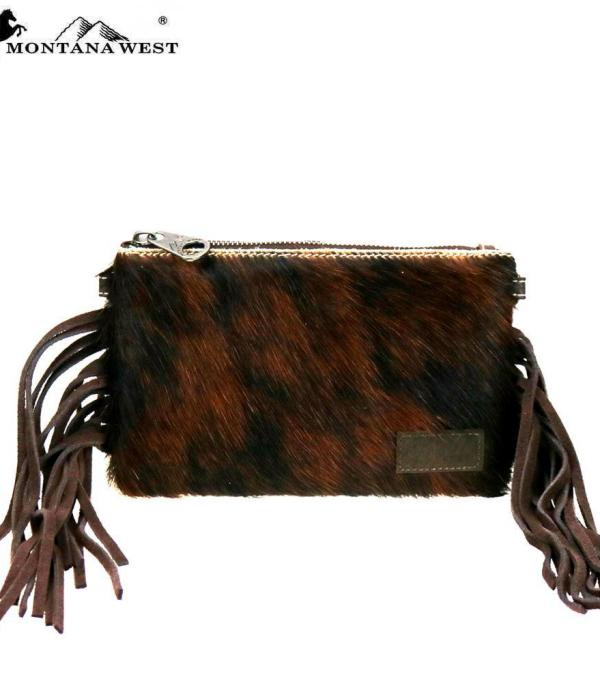 New Arrival :: Wholesale Cowhide Hair-On Fringe Crossbody Bag