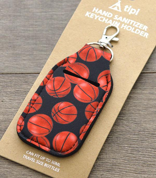 SPORTS THEME :: BASKETBALL | VOLLEYBALL :: Wholesale Basketball Hand Sanitizer Keychain