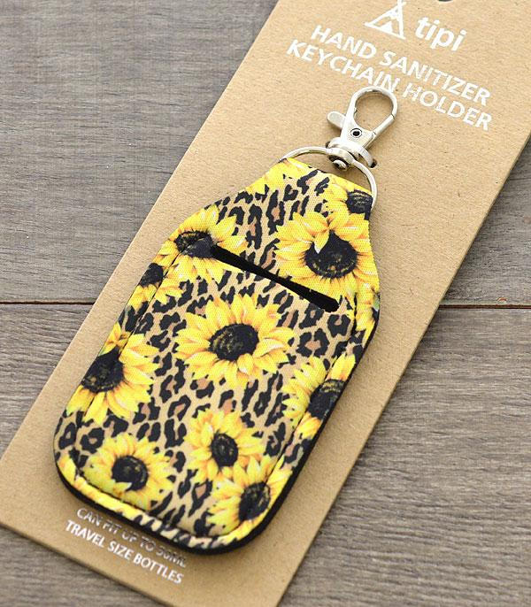 New Arrival :: Wholesale Sunflower Hand Sanitizer Holder Keychain