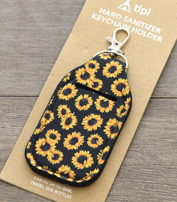 New Arrival :: Wholesale Sunflower Hand Sanitizer Keychain