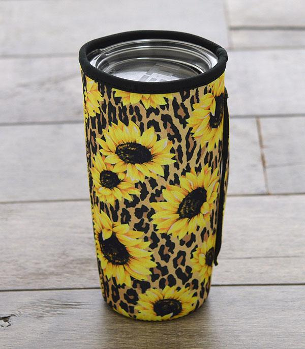 New Arrival :: Wholesale Sunflower Print Tumbler Sleeve