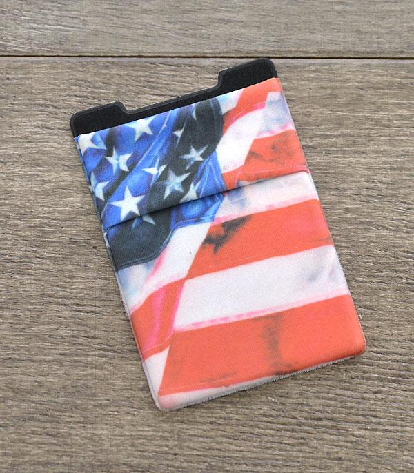 PHONE ACCESSORIES :: Wholesale US Flag Adhesive Phone Pocket