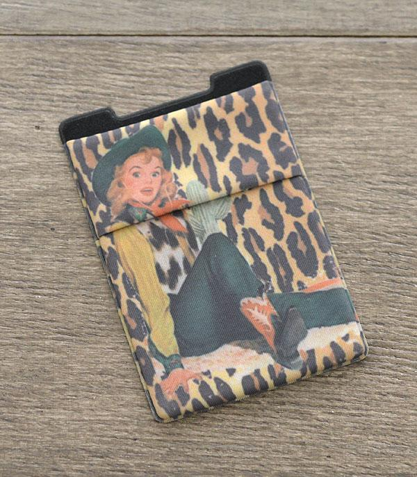 PHONE ACCESSORIES :: Wholesale Western Cowgirl Adhesive Phone Pocket