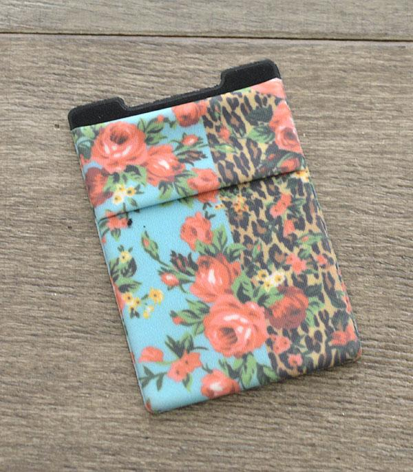 PHONE ACCESSORIES :: Wholesale Leopard Flower Adhesive Phone Pocket