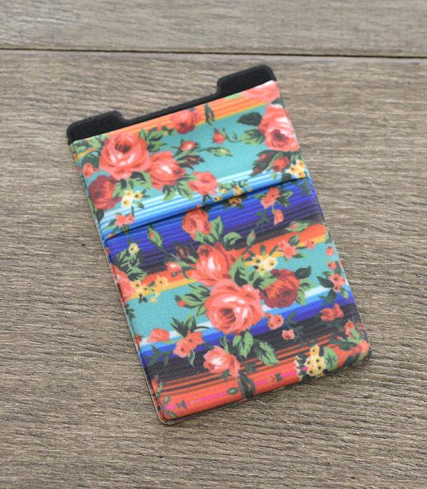 PHONE ACCESSORIES :: Wholesale Serape Floral Adhesive Phone Pocket