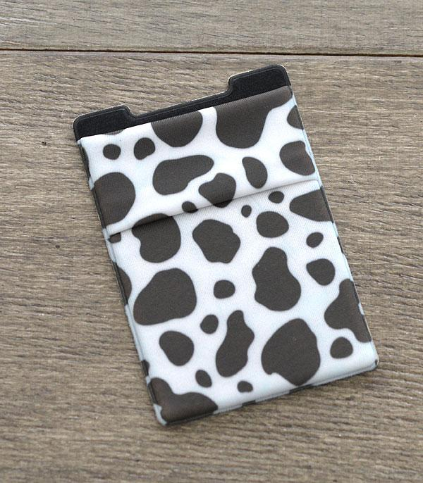 New Arrival :: Wholesale Cow Print Adhesive Phone Pocket