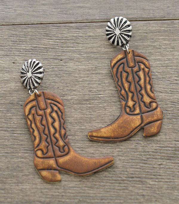New Arrival :: Wholesale Leather Boots Earrings