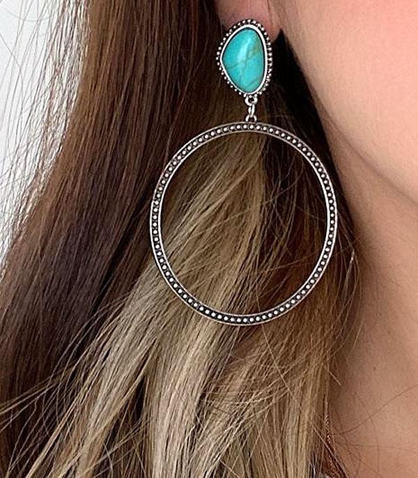 <font color=Turquoise>TURQUOISE JEWELRY</font> :: Wholesale Turquoise Post Hoop Earrings