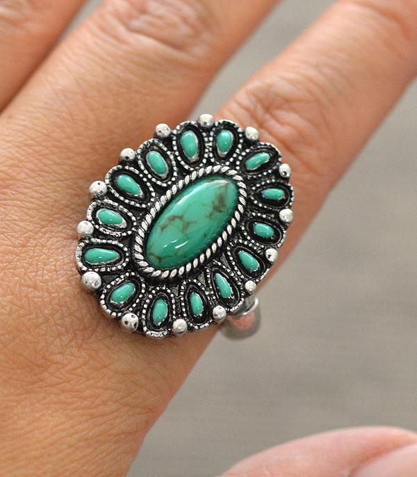 <font color=Turquoise>TURQUOISE JEWELRY</font> :: Wholesale Turquoise Oval Stretch Ring