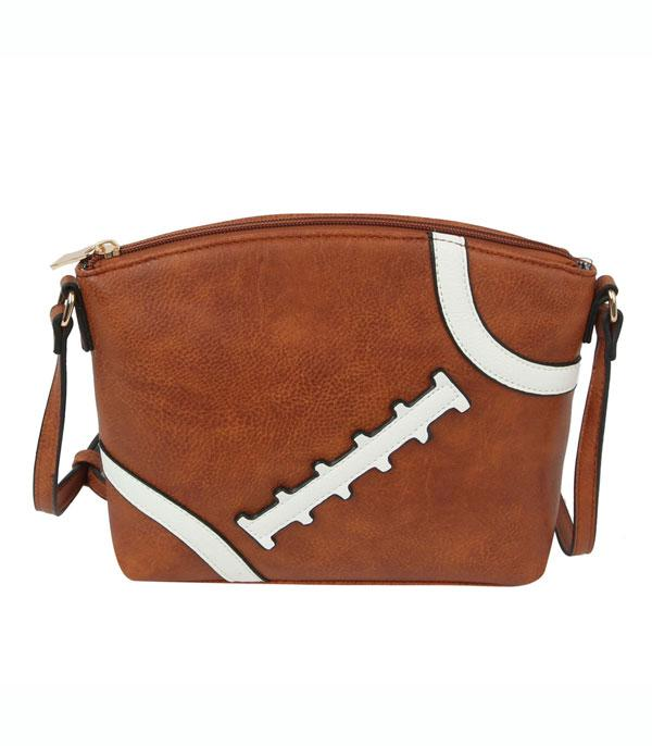 New Arrival :: Wholesale Football Faux Leather Crossbody Bag