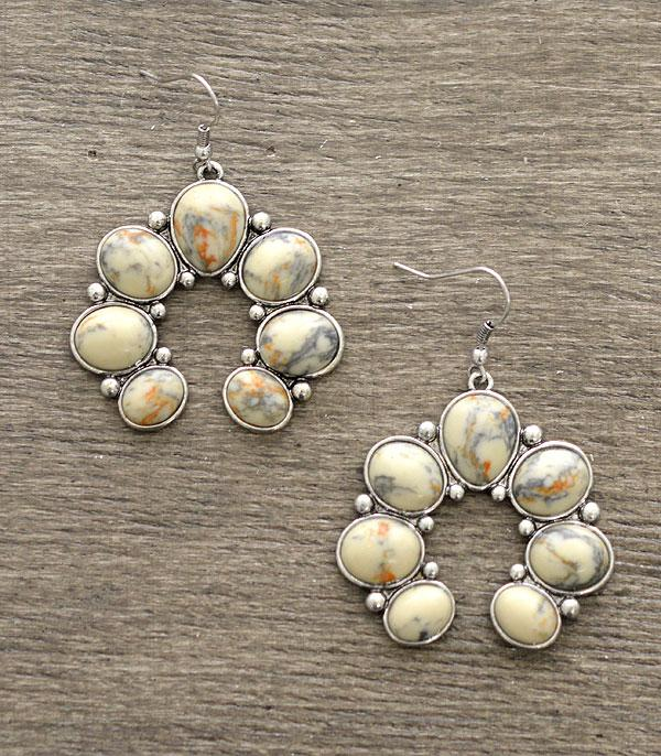 New Arrival :: Wholesale Semi Stone Squash Blossom Earrings