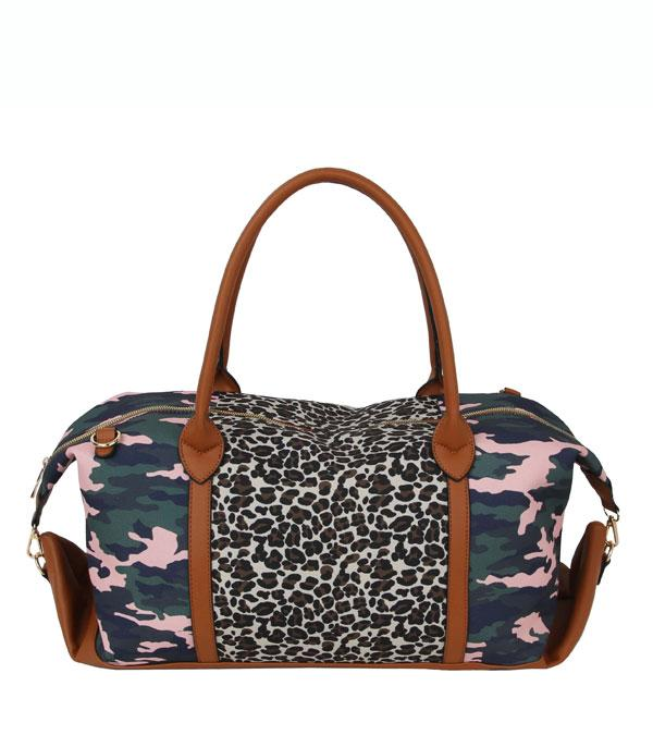New Arrival :: Wholesale Leopard Bull Skull Duffel bag