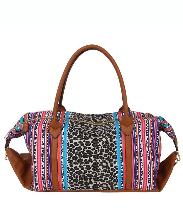New Arrival :: Wholesale Leopard Floral Duffel Bag