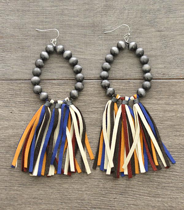 New Arrival :: Wholesale Navajo Pearl Bead Tassel Earrings