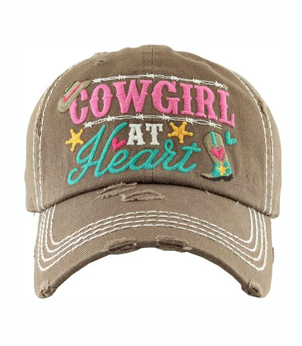 New Arrival :: Wholesale Cowgirl At Heart Vintage Ballcap