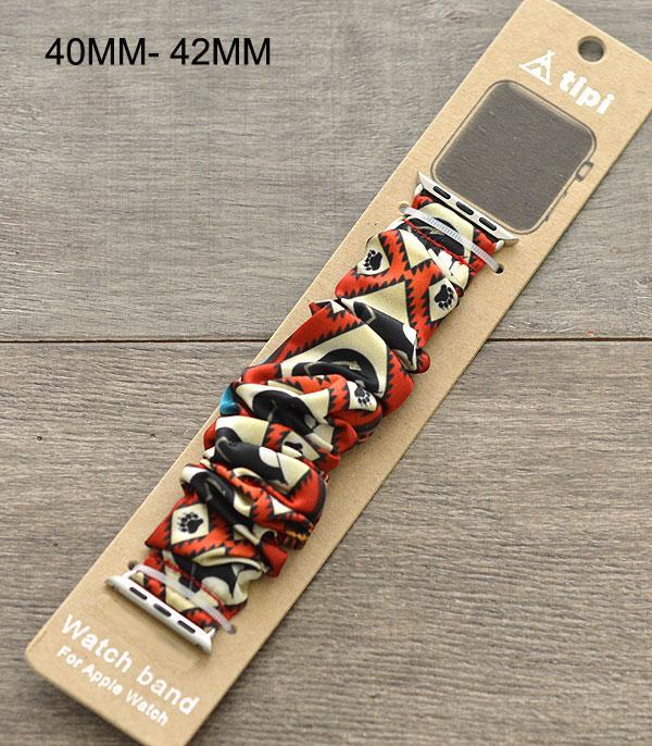 New Arrival :: Wholesale Western Print Scrunchie Watch Band
