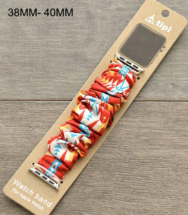 New Arrival :: Wholesale Aztec Print Scrunchie Watch Band