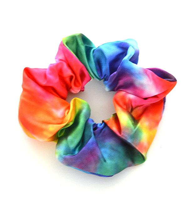New Arrival :: Wholesale Tie Dye Print Hair Scrunchie