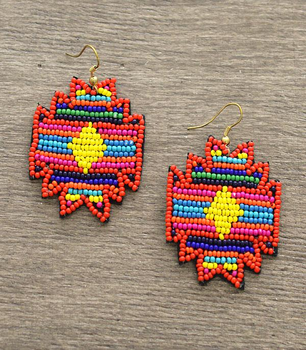 New Arrival :: Wholesale Aztec Seed Bead Earrings