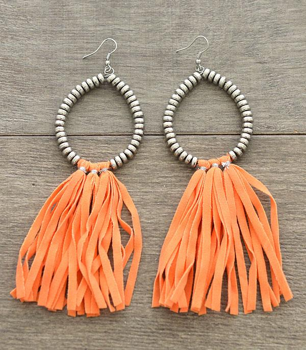 New Arrival :: Wholesale Teardrop Fabric Tassel Earrings