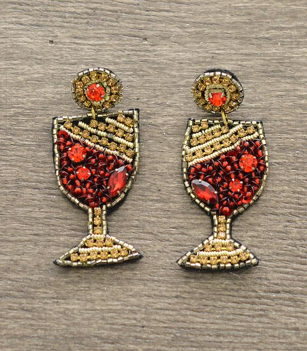New Arrival :: Wholesale Seed Bead Wine Cup Earrings