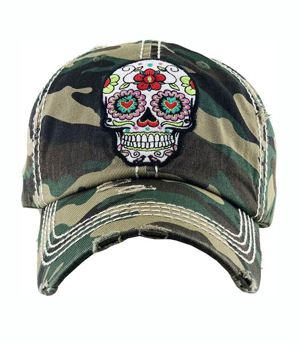 New Arrival :: Wholesale Sugar Skull Vintage Ballcap