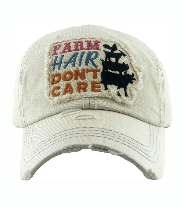 New Arrival :: Wholesale Farm Hair Dont Care Vintage Ballcap