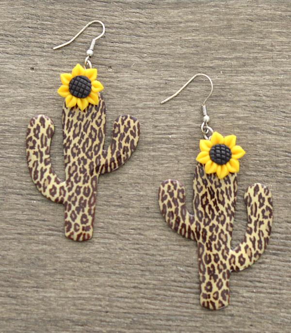New Arrival :: Wholesale Sunflower Cactus Earrings